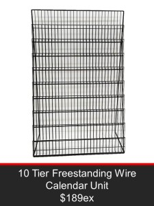 10 Tier Freestanding Wire Calendar Unit