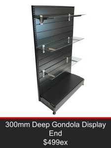 300mm Deep Gondola Display End