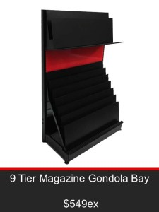 9 Tier Magazine Gondola Bay