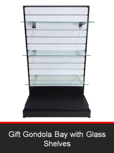 Gift Gondola Bay with Glass Shelves