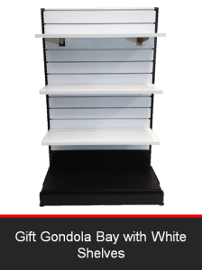 Gift Gondola Bay with White Shelves