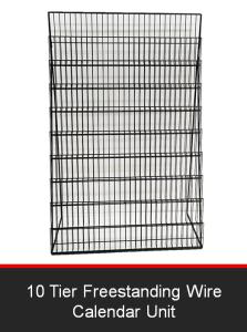 10 Tier Freestanding Wire Calendar Unit