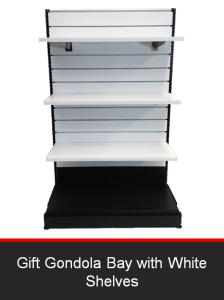 Gift Gondola Bay with White Shelves